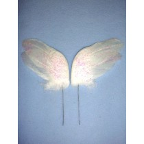 "White Feather Wings - 3"" 2 Pcs"