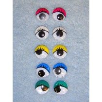 Wiggle Eye w_Eyelashes - 15mm Assorted