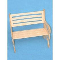 "Wood - Bench - 3"" x 1 5_8"" x 3"