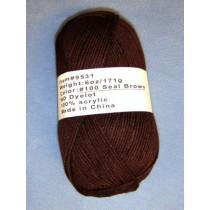 Yarn - Seal Brown  6 oz Acrylic