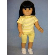 "Yellow Bike Shorts for 18"" Dolls"