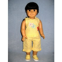 """Yellow Daisy Outfit - 18"""" Doll"""