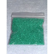 |1- 1.25mm Green Glass Beads - 2 oz.