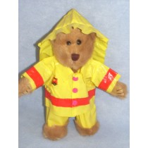 "|10-12"" Bear Clothing - Fireman Outfit"