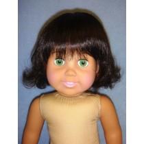 "|11-12"" Dark Brown Betsy Wig"