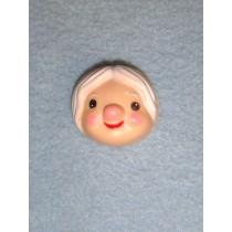 """ 1 1_2"""" Kitchen Witch Face - Pkg_12"""