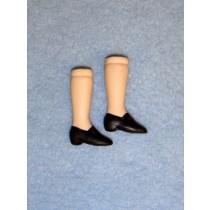 """ 1 1_2"""" Porcelain Legs w_Black Painted Shoes"""