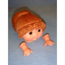 "|3 3_4"" Head - Tiny Teeter Tot Girl w_Brown Hair"