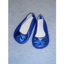 "|3 7_8"" Dark Blue Fancy Slip-Ons"