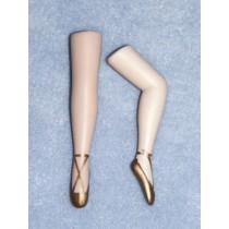 """ 3"""" Porcelain Lady Legs w_Gold Ballet Shoes"""