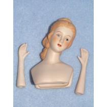 "|3"" Porcelain Sally Head & Hands"