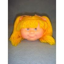 "|4 1_2"" Head - Teeter Tot Girl w_Yellow Hair"