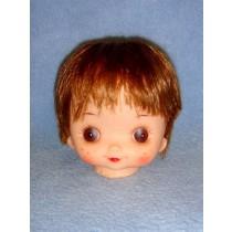 """ 4"""" Doll Head w_Brown Hair"""