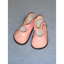 "|4"" Pink Patent Mary Jane Shoes"