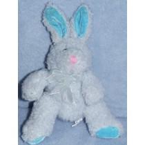 "|7"" Blue Tinsel Chenille Bean Bag Bunny"