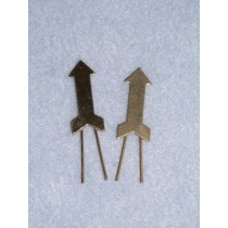 |Arrow Braid Clip - Gilt -  Pkg_2