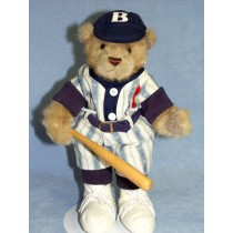 "|Bear - Baseball Player -13"" Dressed"