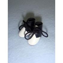 "|Boot - Tie - 7_8"" Black_White"