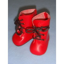 "|Boots - Lace Up - 3"" Red"
