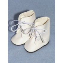 "|Boots - Lace Up - 3"" White"
