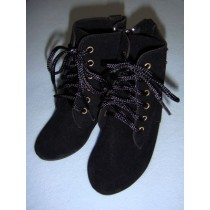 "|Boots - Mrs. Santa - 5 1_4"" Black"