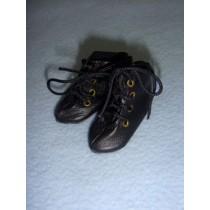 "|Boots - Short Tie - 1 3_4"" Black"