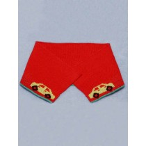 |Collar - Red Knit w_Cars