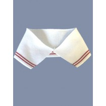 |Collar - White Knit w_Red Stripes