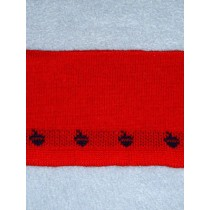 |Collar Strips-Red Knit w_Sailboats
