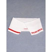 |Collar Strips-White Knit w_Red Osh Kosh