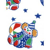 |Fabric-Primary Clowns Cotton-White