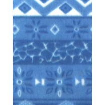 |Fabric-Snowflake Polar Fleece-Blue