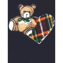 "|Fabric- Navy Knit w_Bears -60""wide"