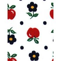 |Fabric -Apples & Flowers Knit-Whit