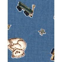 |Fabric -Teddies & Wagons Woven-Blue