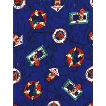 |Fabric - Railroad Bears - Royal