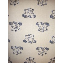 |Fabric - Taupe w_Navy Bears Woven