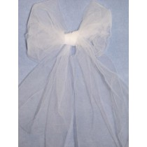 |Fabric - Tulle - White 1 Yd