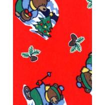|Fabric - Winter Bear Knit - Red