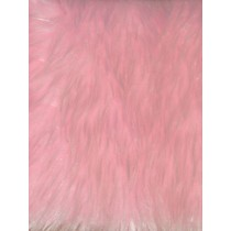 |Feather Fur Fabric -Pink Frost 1 Yd
