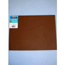 "|Foamies Craft Foam - Brown - 9""x12"""