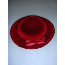 "|Hat - Classic Flocked - 6 1_2"" Burgundy"