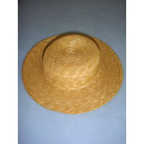 "|Hat - Flat Top Straw - 6 1_2"" Natural"