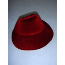 "|Hat - Flocked Bonnet - 5 1_4"" Burgundy"