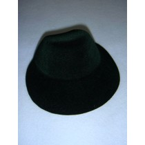 "|Hat - Flocked Bonnet - 5 1_4"" Dark Green"