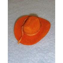 "|Hat - Flocked Cowboy - 2"" Tan"