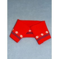 |Knit Collar Strip - Red Baseball