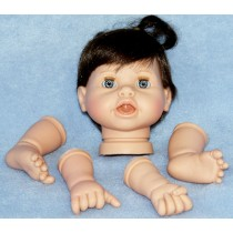 |Lil' Snuggle Bunny w_Brown Hair, Arms & Legs-17""
