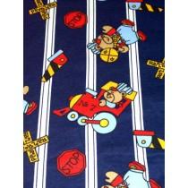 |Navy & White Railroad Knit Fabric - 1 yd