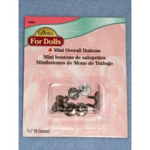 |Nickel Mini Overal Button - Pkg_4